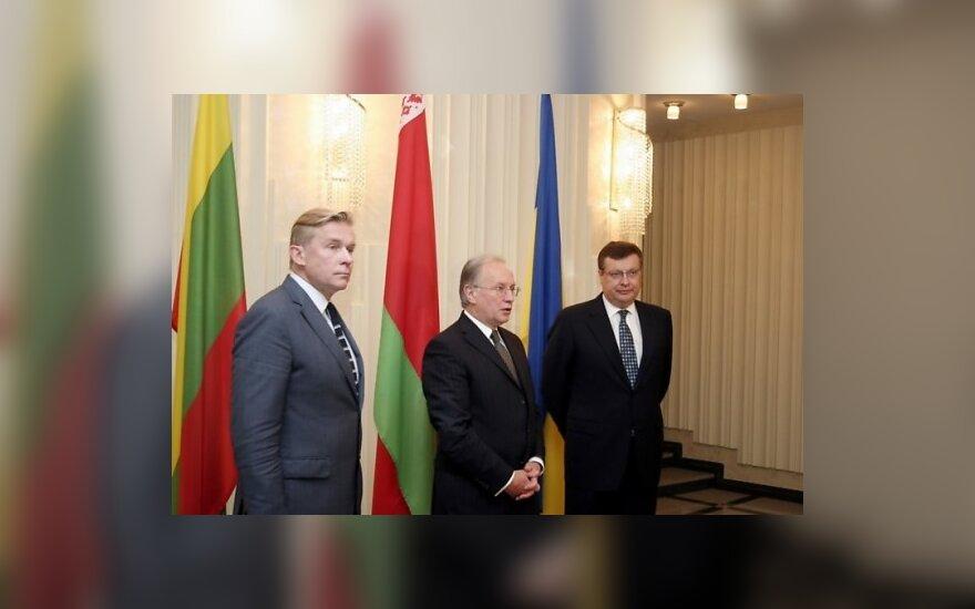 Аудронюс Ажубалис, Сергей Мартынов и Константин Грищенко. Фото с сайта МИД Литвы