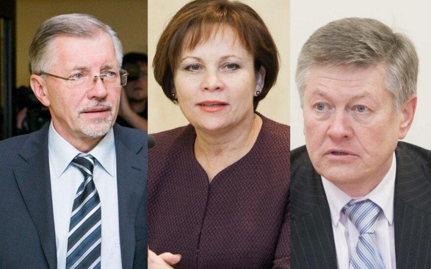 Gediminas Kirkilas, Rasa Juknevičienė, Artūras Paulauskas