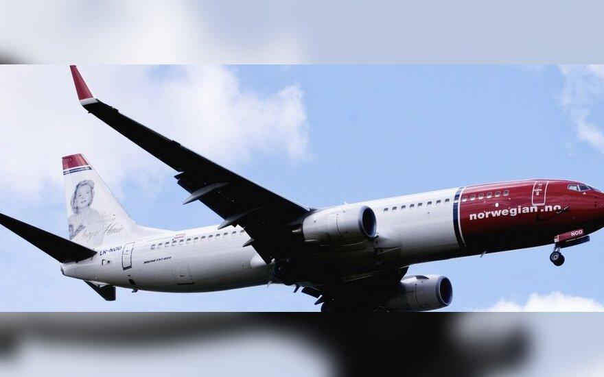 Norwegian Air Shuttle Boeingas Oslo (Gardermoen) oro uoste