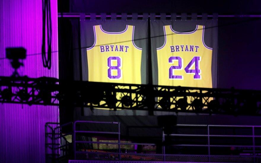 Kobes Bryanto, dukters Giannos ir dar septynių asmenų atminimo vakaras