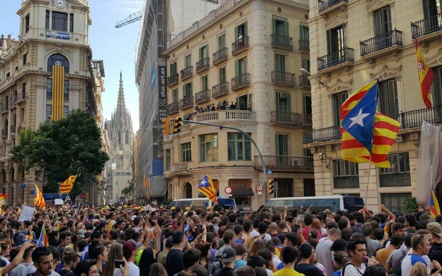 Protestuotojų minia Barselonoje