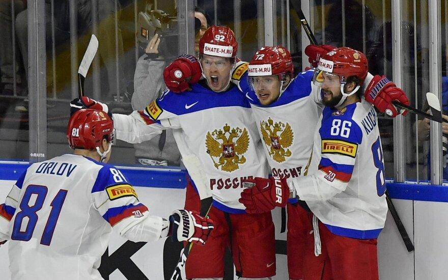 Pasaulio ledo ritulio čempionato pusfinalis: Kanada – Rusija