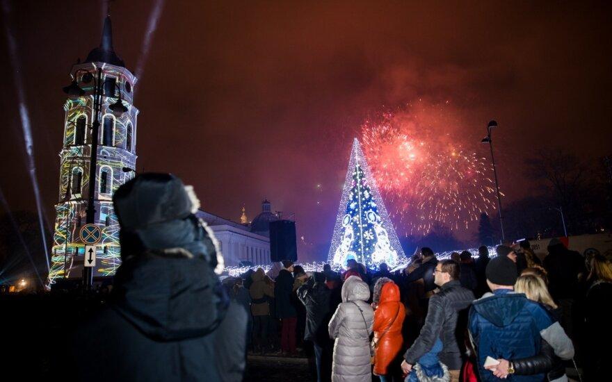 В новогоднюю ночь общественный транспорт в столице Литвы будет бесплатным