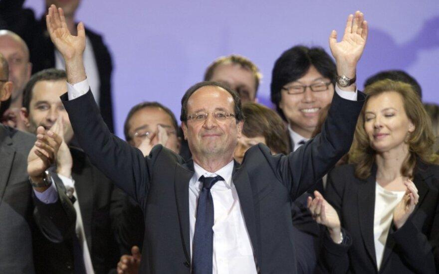 Prancūzijos prezidentu išrinktas Francois Hollande'as