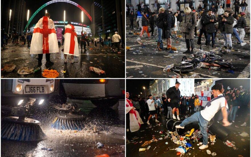 Euro 2020 finalas. Londono gatvės