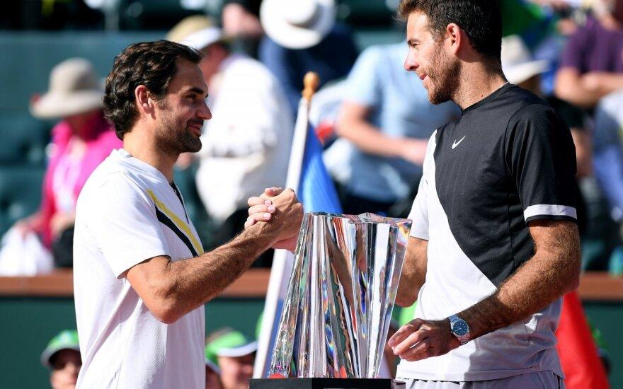Rogeris Federeris ir Juanas Martinas del Potro