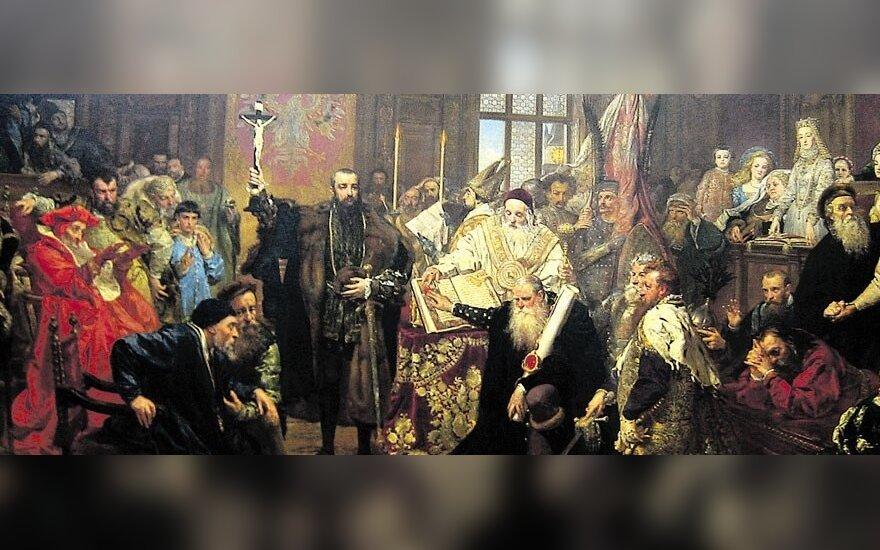 Dailininko Jano Mateikos paveikslas Liublino unija 1569 m.