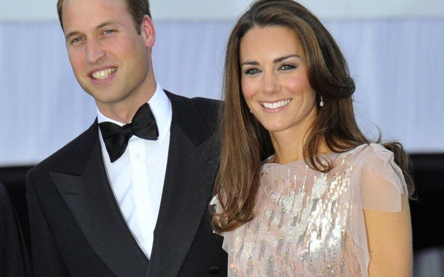 Princas Williamas su žmona Kate