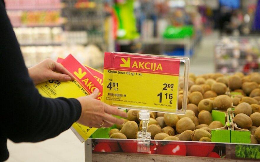 Цены в литах не должны указываться более крупным шрифтом, чем цены в евро