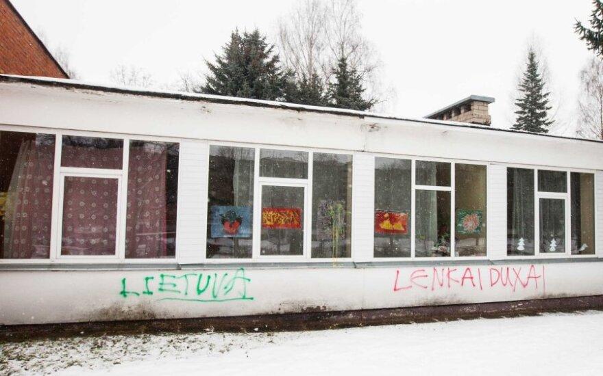 Akt wandalizmu wobec polskiej szkoły w Wilnie