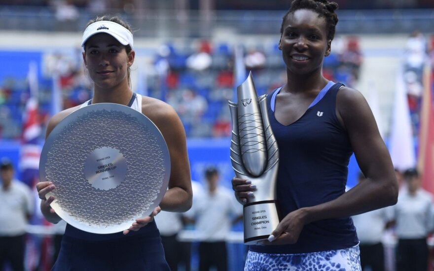 Garbine Muguruza ir Venus Williams