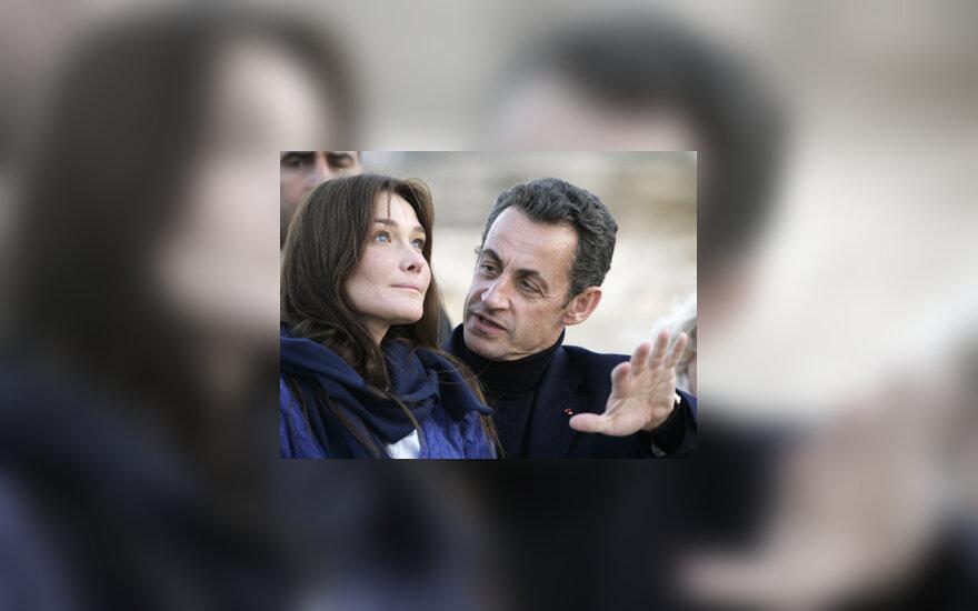 Carla Bruni ir Nicolas Sarkozy
