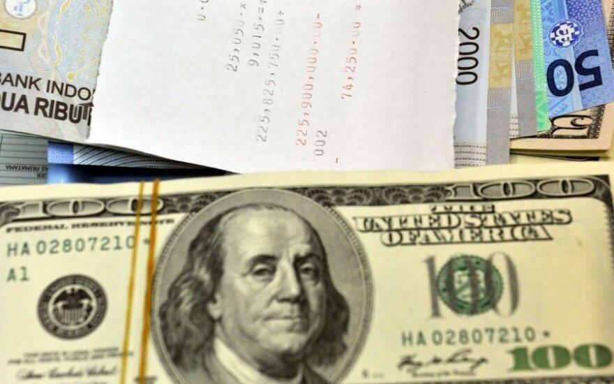 Doleriai, valiutos, sąskaita