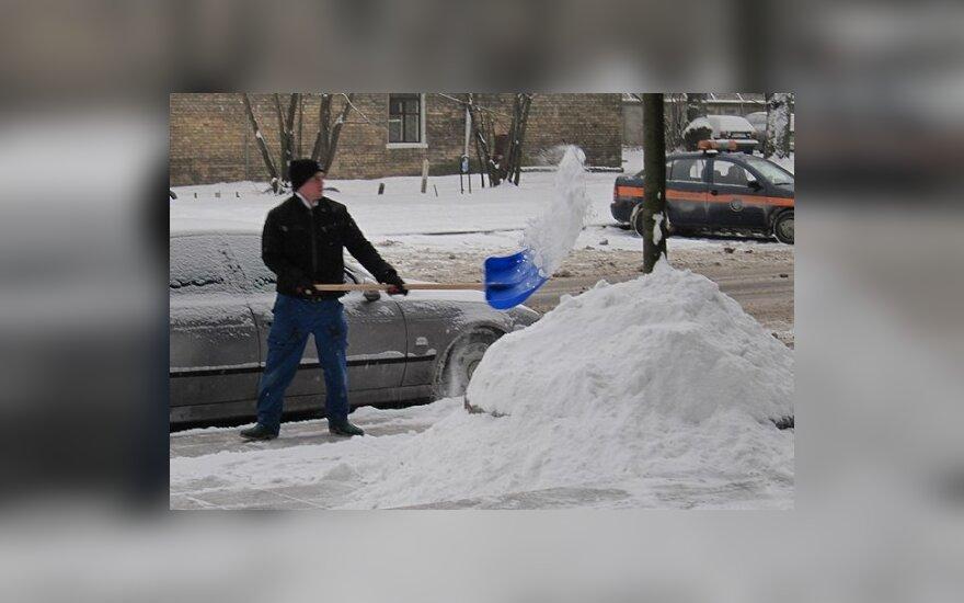 В Жемайтии выпало 25 см снега