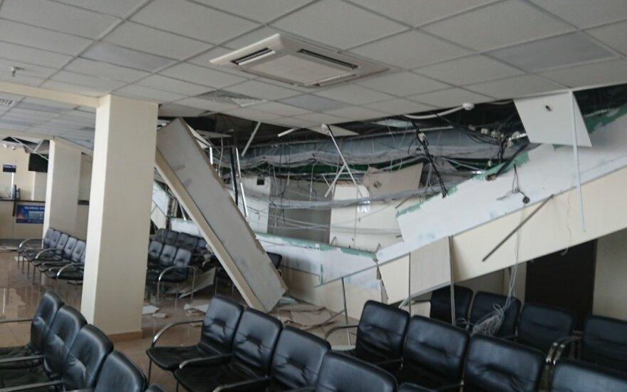 В визовом центре Литвы в Минске рухнул потолок