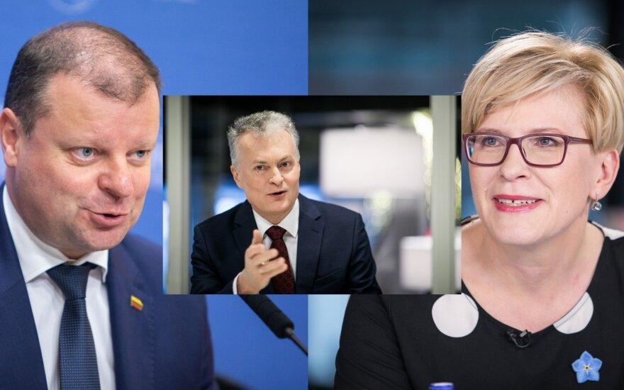 Saulius Skvernelis, Gitanas Nausėda, Ingrida Šimonytė