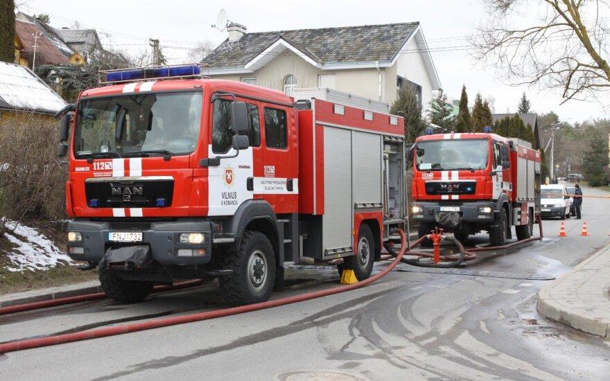 В Пренай в пожаре погиб человек