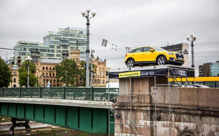 На Зеленом мосту — новый символ города