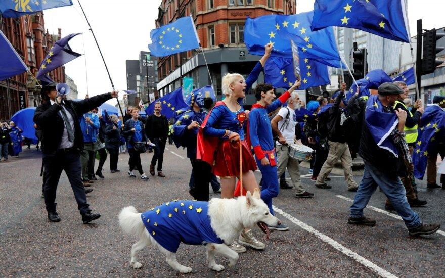 В Манчестере прошла многотысячная демонстрация против Brexit