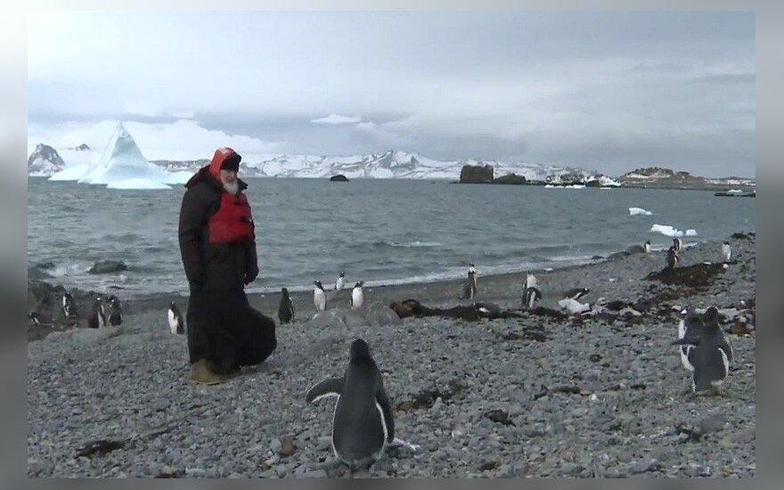 ВИДЕО: Патриарх Кирилл посетил Антарктиду и встретился с пингвинами