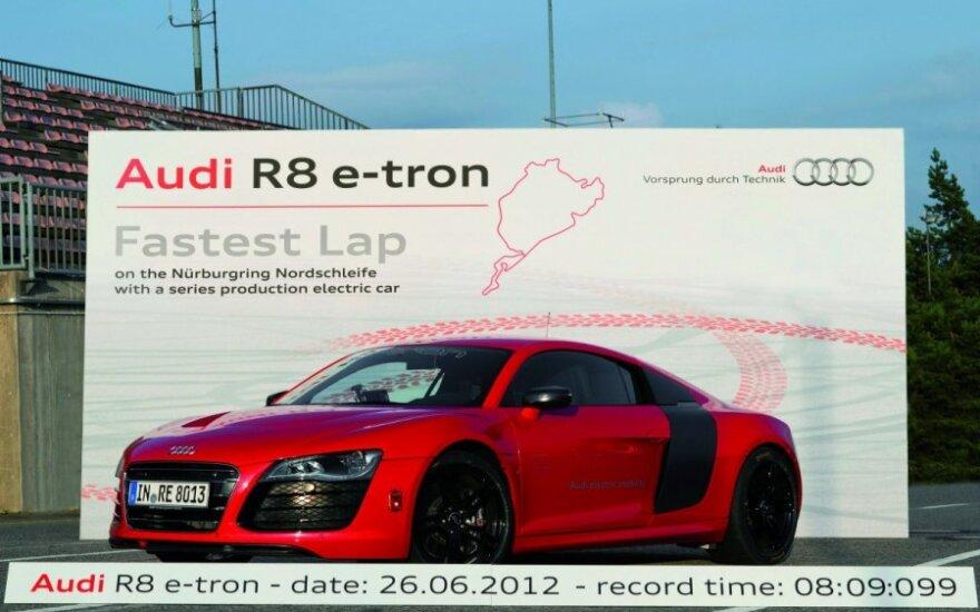 Audi собрала десяток суперкаров R8 e-tron