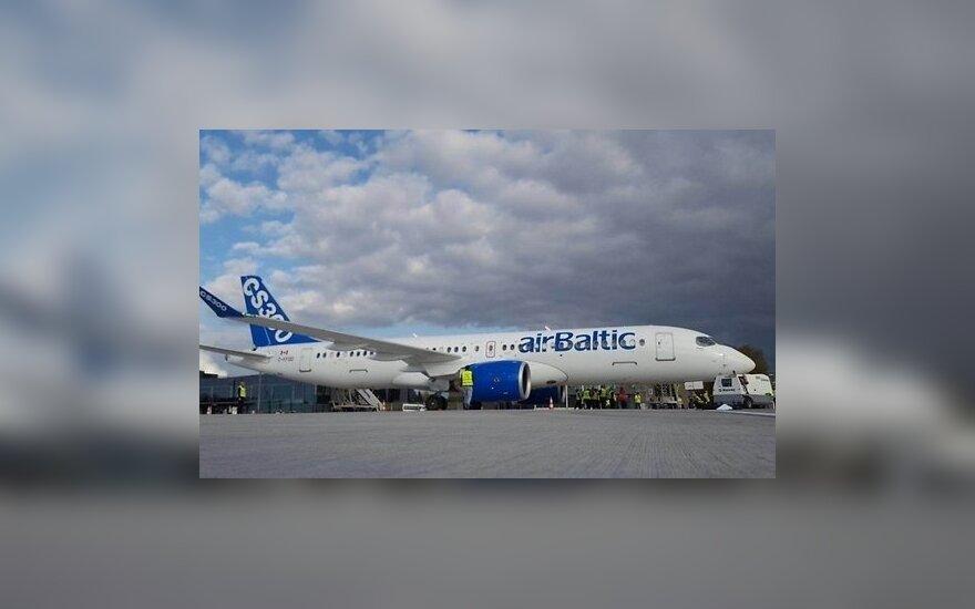 airBaltic протестирует новый самолет CS300 на маршрутах из Риги в Вильнюс и Таллин