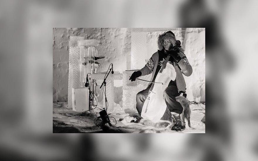 В Норвегии сыграли на ледяных музыкальных инструментах