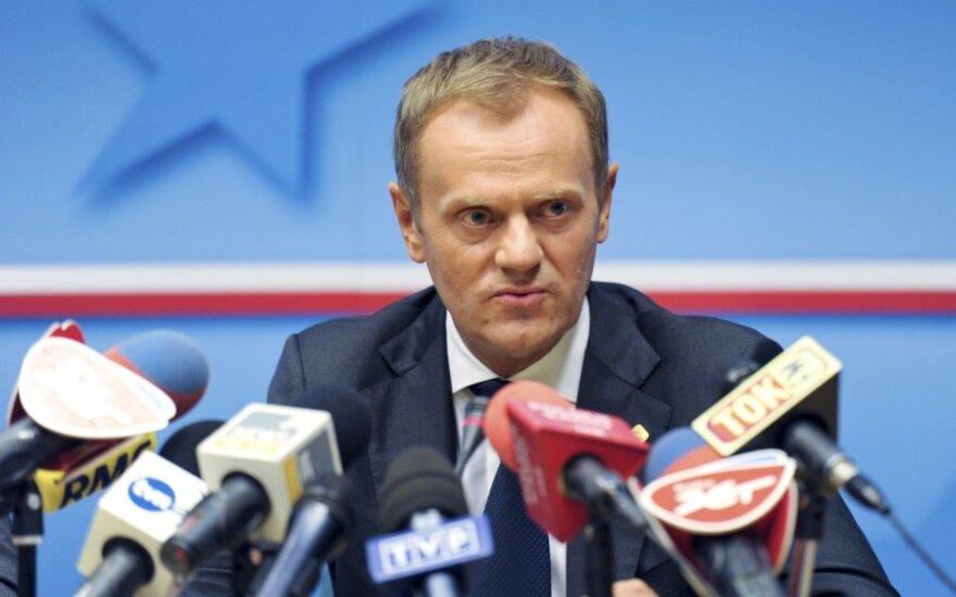 Tusk liczy na poprawę stosunków z Litwą