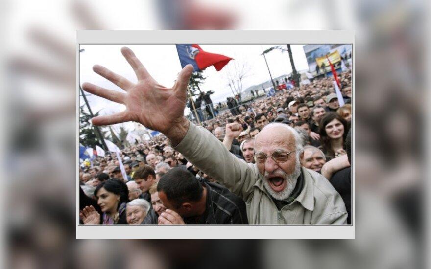 В Тбилиси таксисты подрались с оппозиционерами