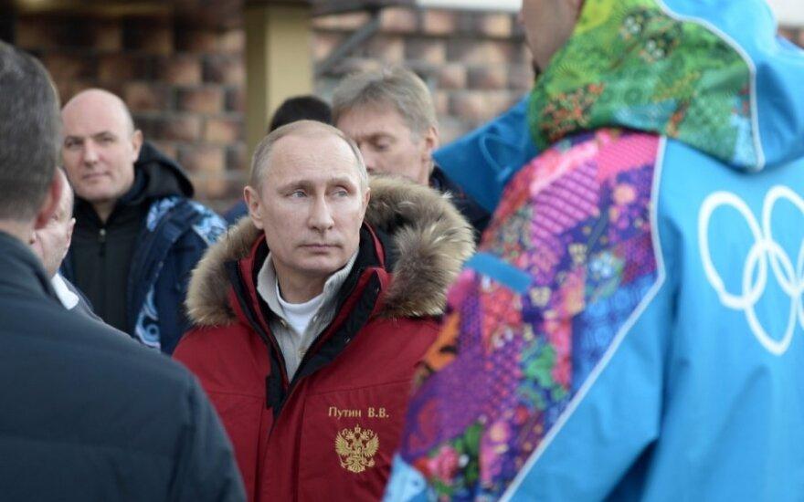 Vladimiras Putinas lanko olimpinius objektus