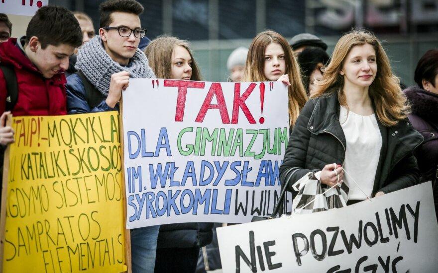 В Вильнюсе прошел митинг представителей нацменьшинств