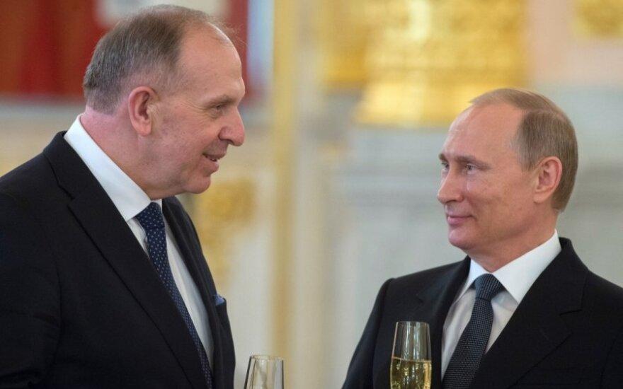 Lithuanian Ambassador Remigijus Motuzas, Russian President Vladimir Putin
