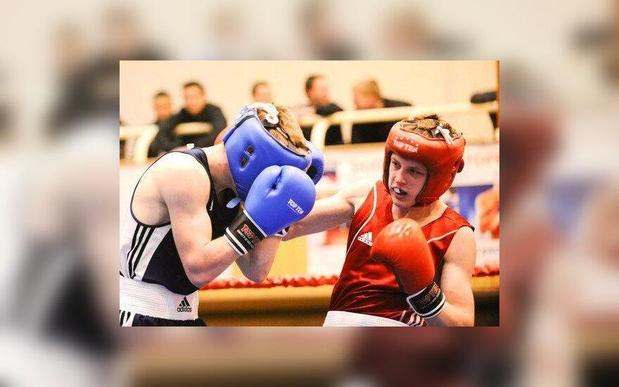 Dano Pozniako vardo bokso jaunimo turnyro akimirka