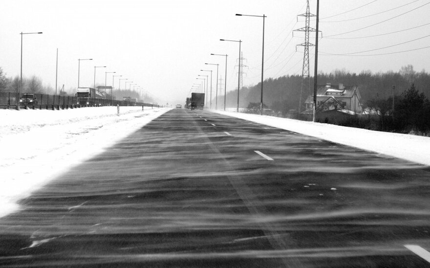 Kaune siaučia sniego pūga