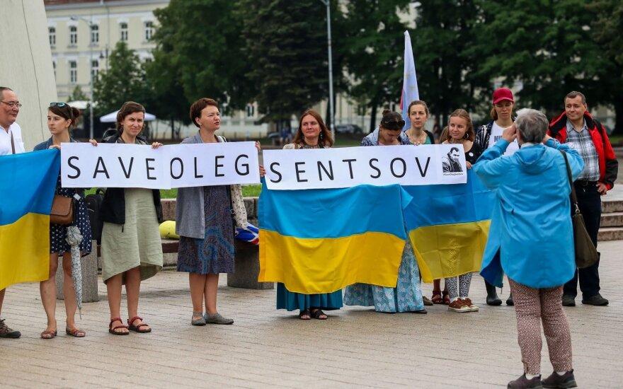 В Вильнюсе - акция в поддержку Олега Сенцова