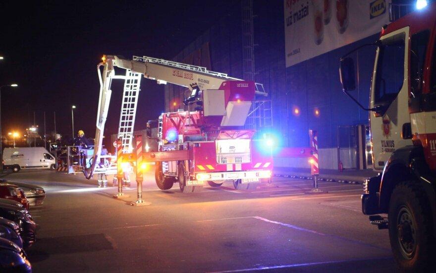В торговом центре IKEA в Вильнюсе возник пожар