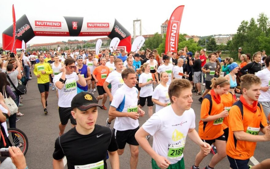 Стартовал первый Каунасский марафон