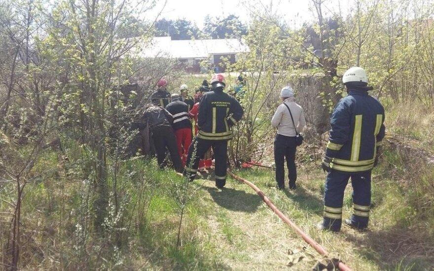 В Алитусе нашли труп сожженного человека