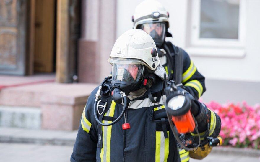 В Вильнюсе во время пожара скончалась женщина