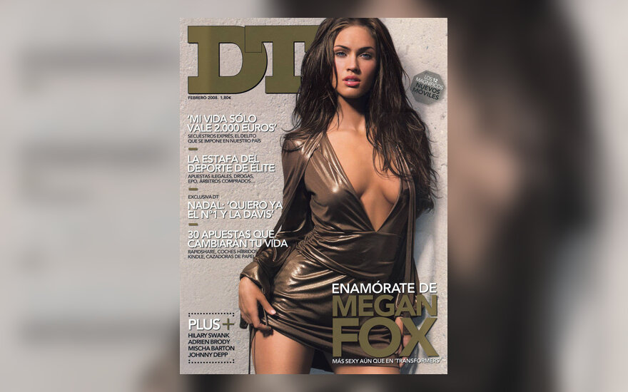 "Megan Fox žurnalo ""DT"" viršelyje"
