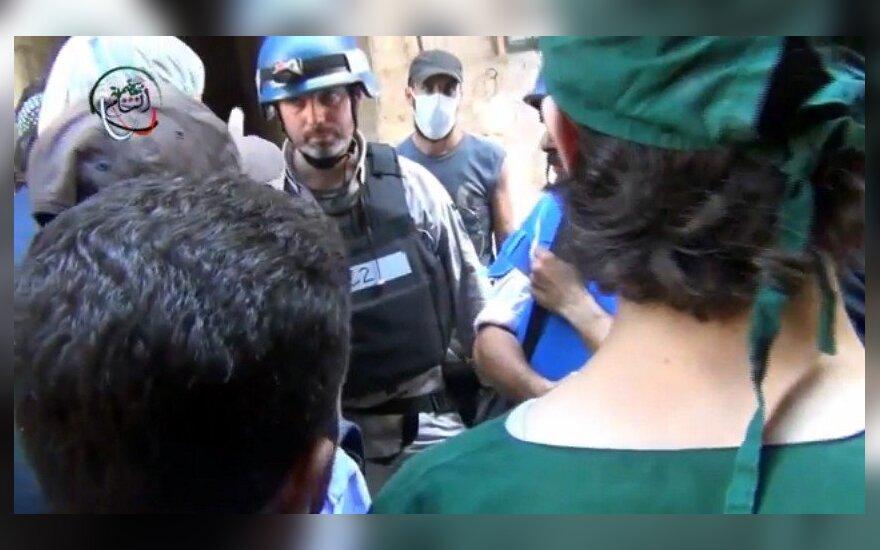 Sirijoje fiksuojami cheminės atakos padariniai