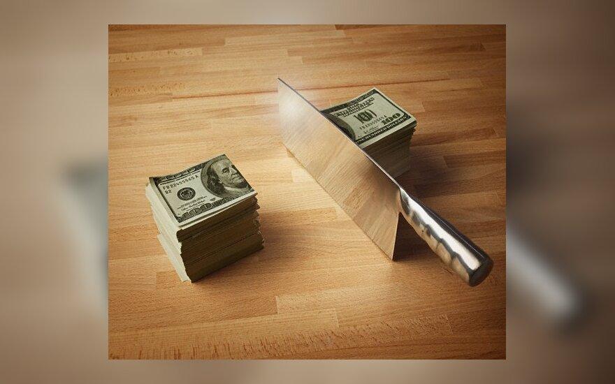 Atlyginimas, nuostolis, pelnas, sumažėjimas