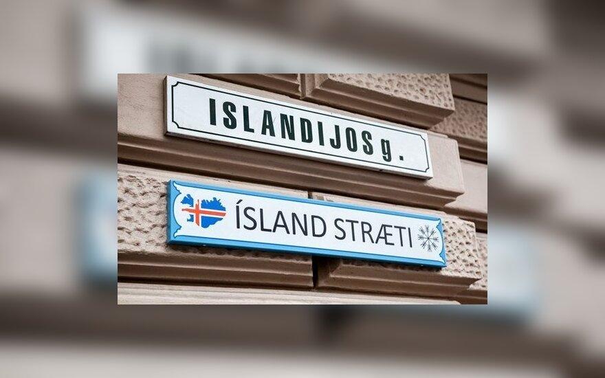 Dwujęzyczna nazwa ulicy w Wilnie... po islandzku