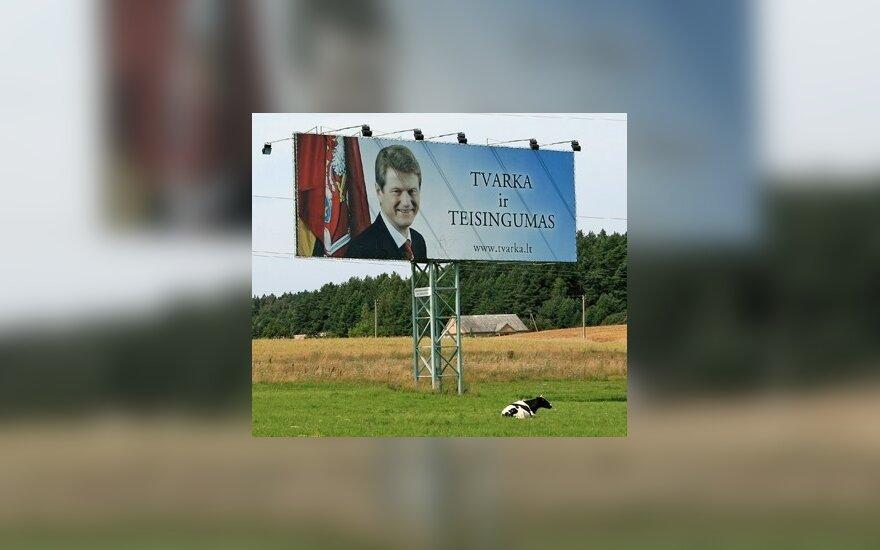 """Rolando Pakso ir partijos """"Tvarka ir teisingumas"""" reklama"""