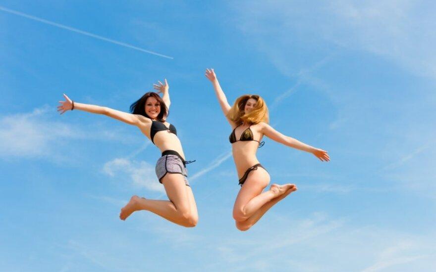 merginos, laimė, vasara
