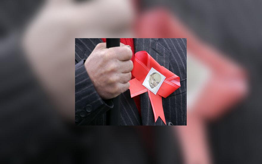 Ženklelis su Vladimiro Lenino atvaizdu