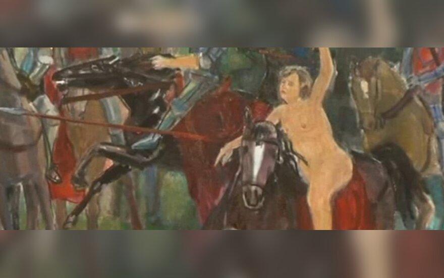 """Antano Beinaravičiaus paveikslas, """"Lietuvos ryto"""" TV stopkadras"""