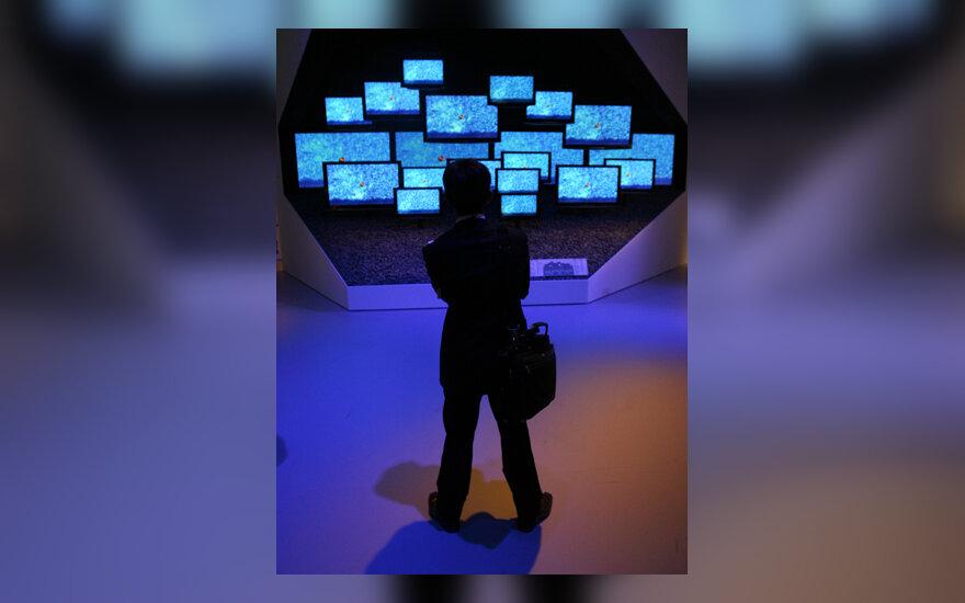 Plazminių televizorių stendą Berlyno mugėje