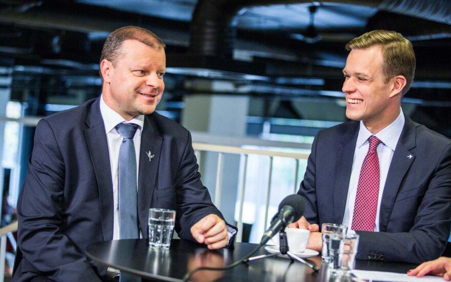 Gabrielius Landsbergis againsty Saulius Skvernelis in the DELFI TV debates