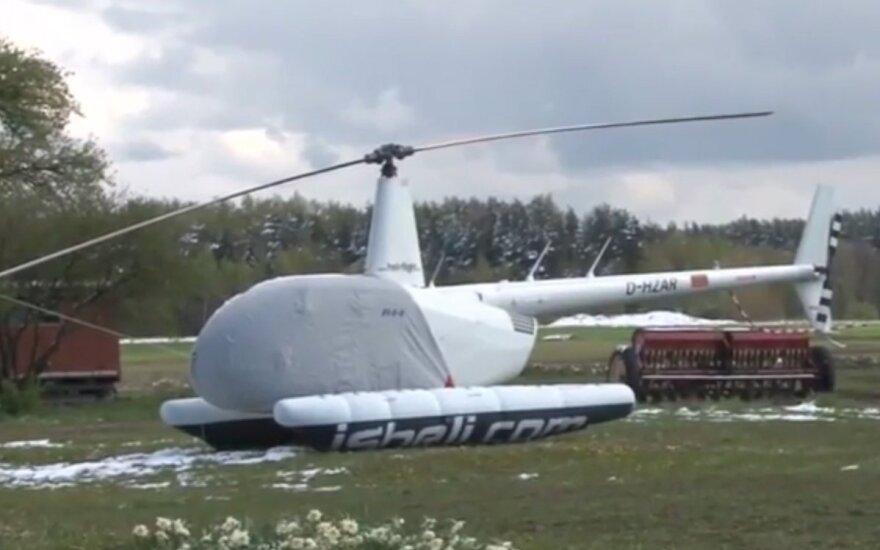 В Литве аварийно приземлился вертолет с гражданином Латвии на борту